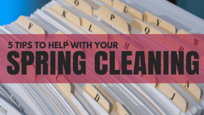 5 tips to help with your spring cleaning