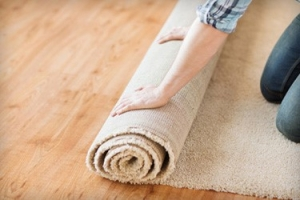 Replace old worn and stained carpet.