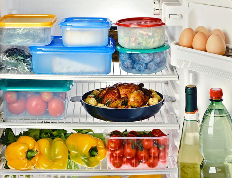 Food Inside Refrigerator