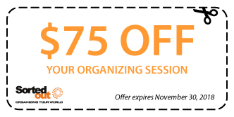 $75 off your organizing session expires November 30 2018