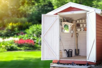 Backyard organization shed