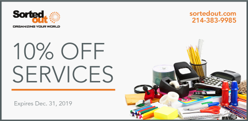 coupon for professional organizing dallas