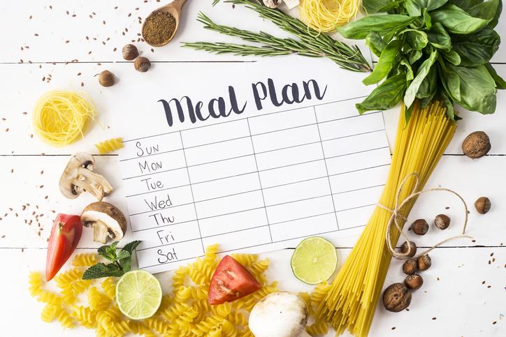 A meal plan book