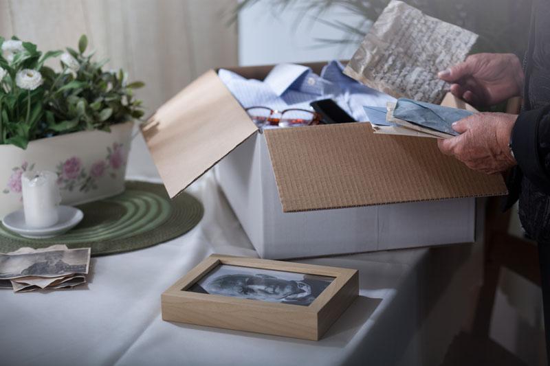 memorabilia in a box