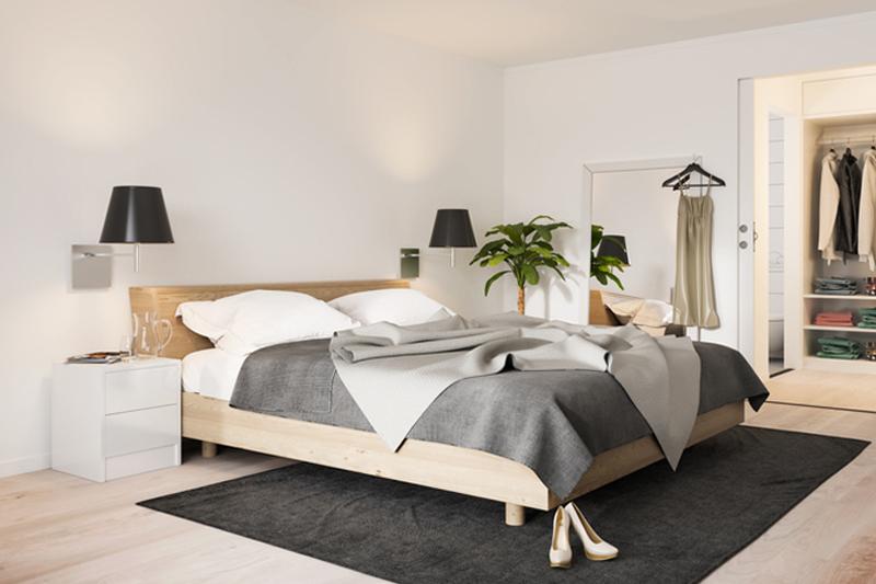 Organized master bedroom