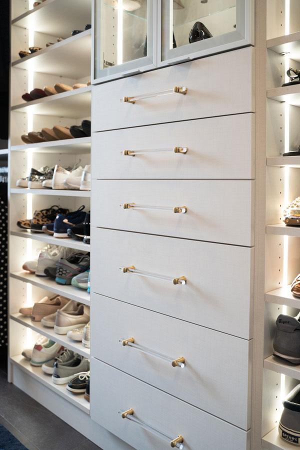 Shoe Storage - custom closet Allen TX