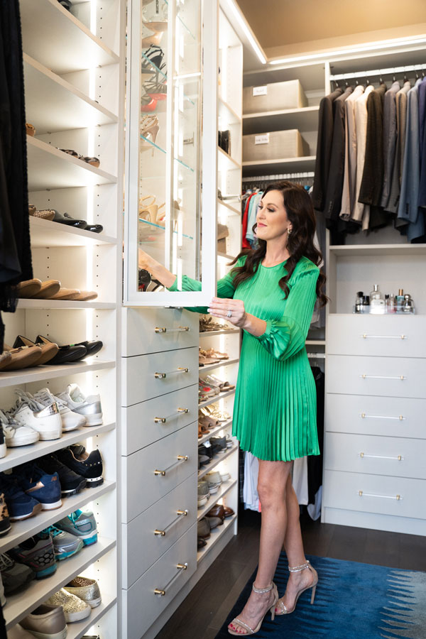 Tonia Tomlin custom closet makeover in Allen TX